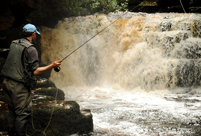 Fishing Waterfall