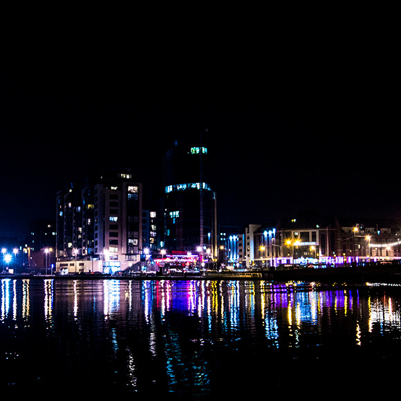 Limerick City Skyline Night