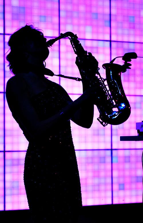 Playing the Saxaphone