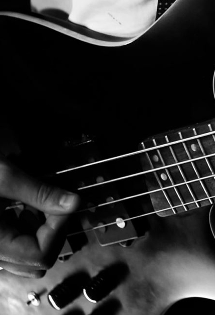 Close up Base Guitar